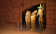 S2e7 egyptian statues bg