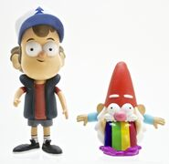 Gravity Falls Dipper and Barfing Gnome toy