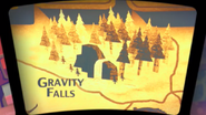 Pilot map gravity falls