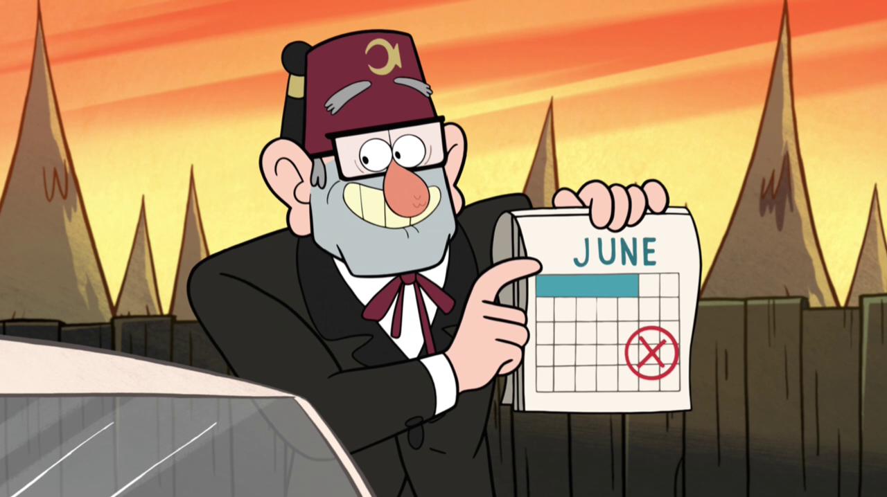 June Calendar Girl Series : Timeline gravity falls wiki fandom powered by wikia