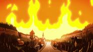 S1e20 Gravity Falls on fire