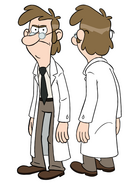 Fiddleford McGucket lab coat tumblr