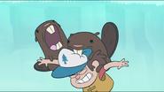 S1e2 beavers biting dipper