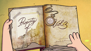 S1e1 3 book property of
