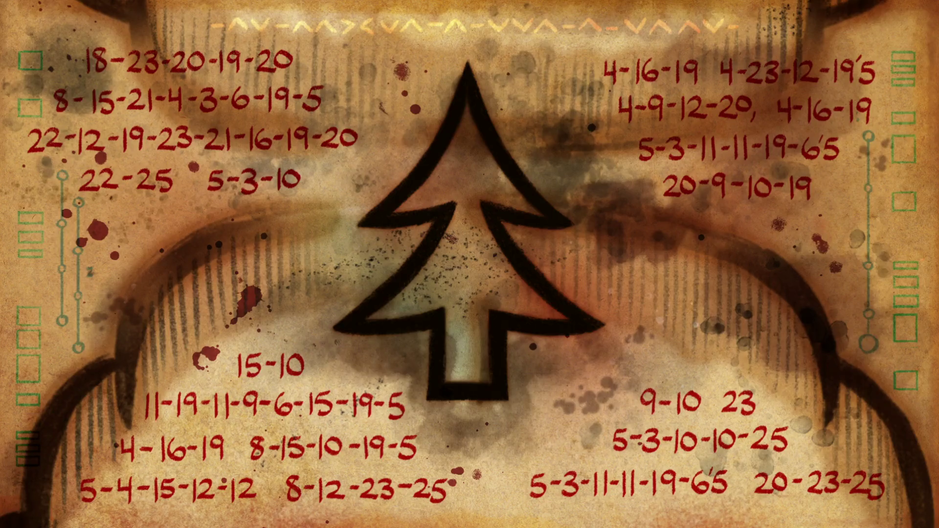 「gravity falls end of credits Cipher wheel in cave weirdmageddon part3 1 stan's head」の画像検索結果