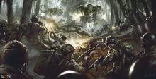 March of war centerpiece artwork by daroz-d62nd11
