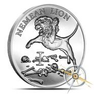 Nemean lion 1 oz silver round - 12 labors of hercules