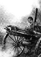 Kip using the gatling gun