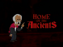 Home of the Ancients Title Card