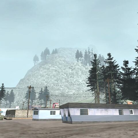 Mount Chiliad as seen from the town of Angel Pine.