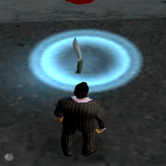 The dagger in the alley, likely reference to the killer and the movie.