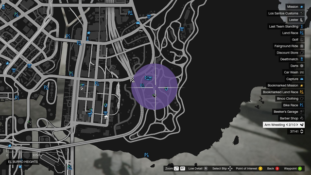 File:Distract Cops GTAO Map ElBurroHeights.png