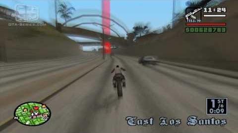 GTA San Andreas - Walkthrough - Street Race - City Circuit (HD)