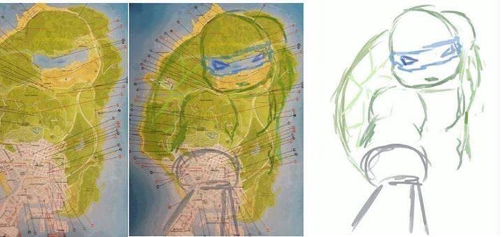 Map-GTAV-Ninja turtles