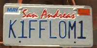 Vehicle Features/Custom Vehicle License Plates