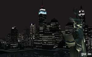 Liberty city at night