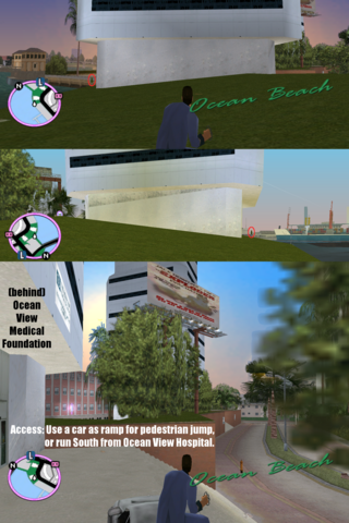 File:GTAVC HiddenPack 06 NW at shore behind Ocean View Medical Foundation.png