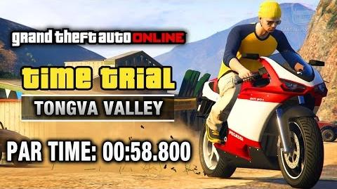 GTA Online - Time Trial 13 - Tongva Valley (Under Par Time)