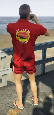 File:Lifeguard GTAVe Outfit Red tee Red shorts Back.jpg