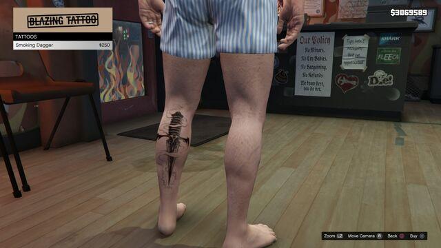 File:Tattoo Michael Left Leg GTAV Smoking Dagger.jpg