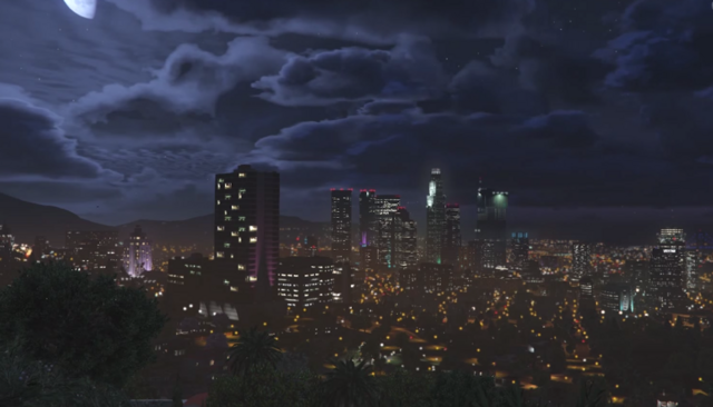 File:Los Santos at Night - GTAV.png