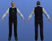 FIB SA in white shirt and black combat vest