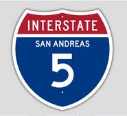 1957 Style Interstate 5 Shield