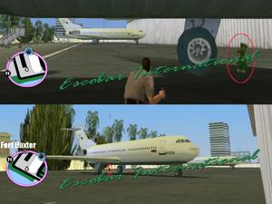 GTAVC HiddenPack 99 under NW plane S of Ft.Baxter gate