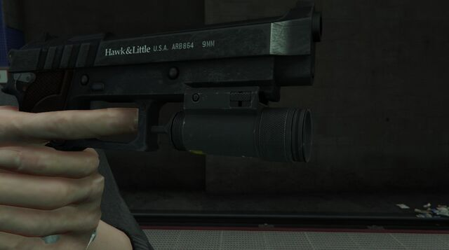 File:GTA 5 Flashlight on the Pistol.jpg