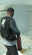Franklin using extinguisher GTA V