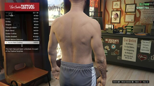 File:Tattoo GTAV Online Male Right Arm You're Next outline.jpg