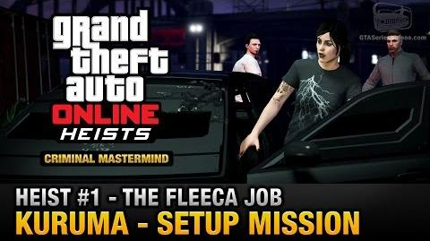 GTA Online Heist 1 - The Fleeca Job - Kuruma (Criminal Mastermind)