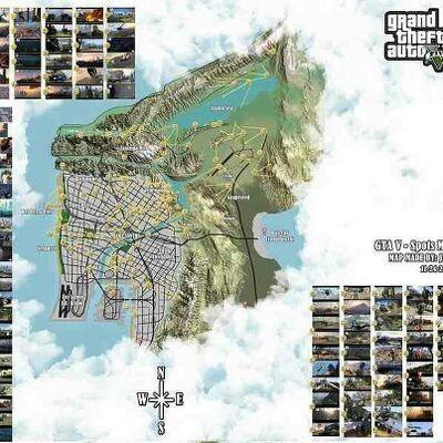 GTA V map