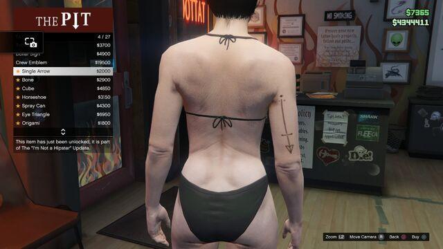 File:Tattoo GTAV-Online Female Right Arm Single Arrow.jpg