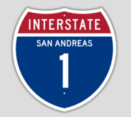1957 Style Interstate 1 Shield