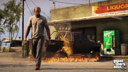 Trevor-GTAV-BurningCar