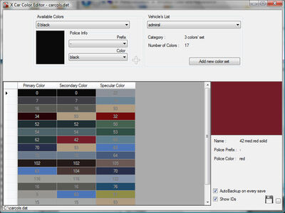 X Car Color Editor