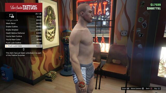 File:Tattoo GTAV Online Male Right Arm Fuck Luck color.jpg