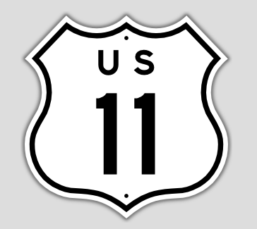 File:1957 Style US Route 11 Shield.png