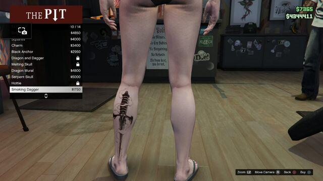 File:Tattoo GTAV-Online Female Left Leg Smoking Dagger.jpg