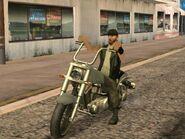 SA Biker on Freeway
