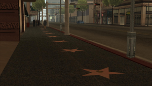 Vinewood Walk of Fame GTASA North Side