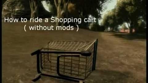 GTA IV - how to ride a shopping cart (without mods)