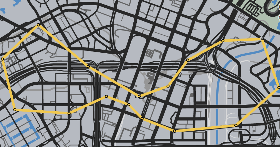 Downtown Downtown GTAO Race Map
