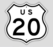 1957 Style US Route 20 Shield