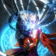 An unconscious Inori as her Void returns to her
