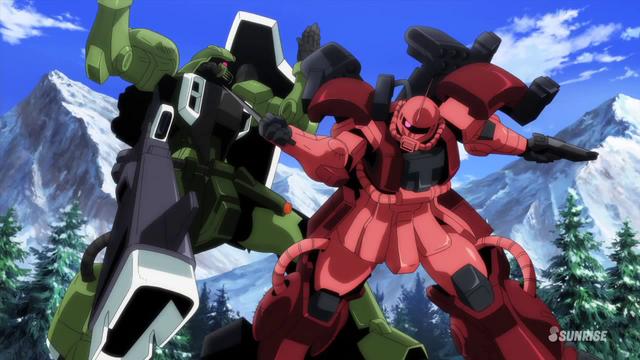 File:Gunner ZAKU Warrior vs Zaku Amazing 01.png