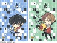 Gundam 00 - Crossword Puzzle Comic Characters Black!