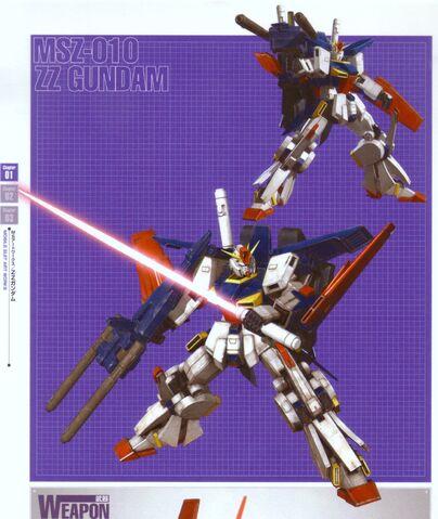 File:MSZ-010 ZZ Gundam with Beam Saber and Double Beam Rifle.jpg