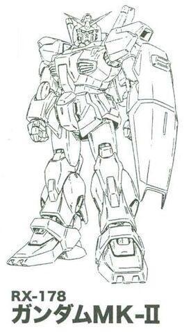 File:RX-178 Gundam Mk.-II Lineart.jpg